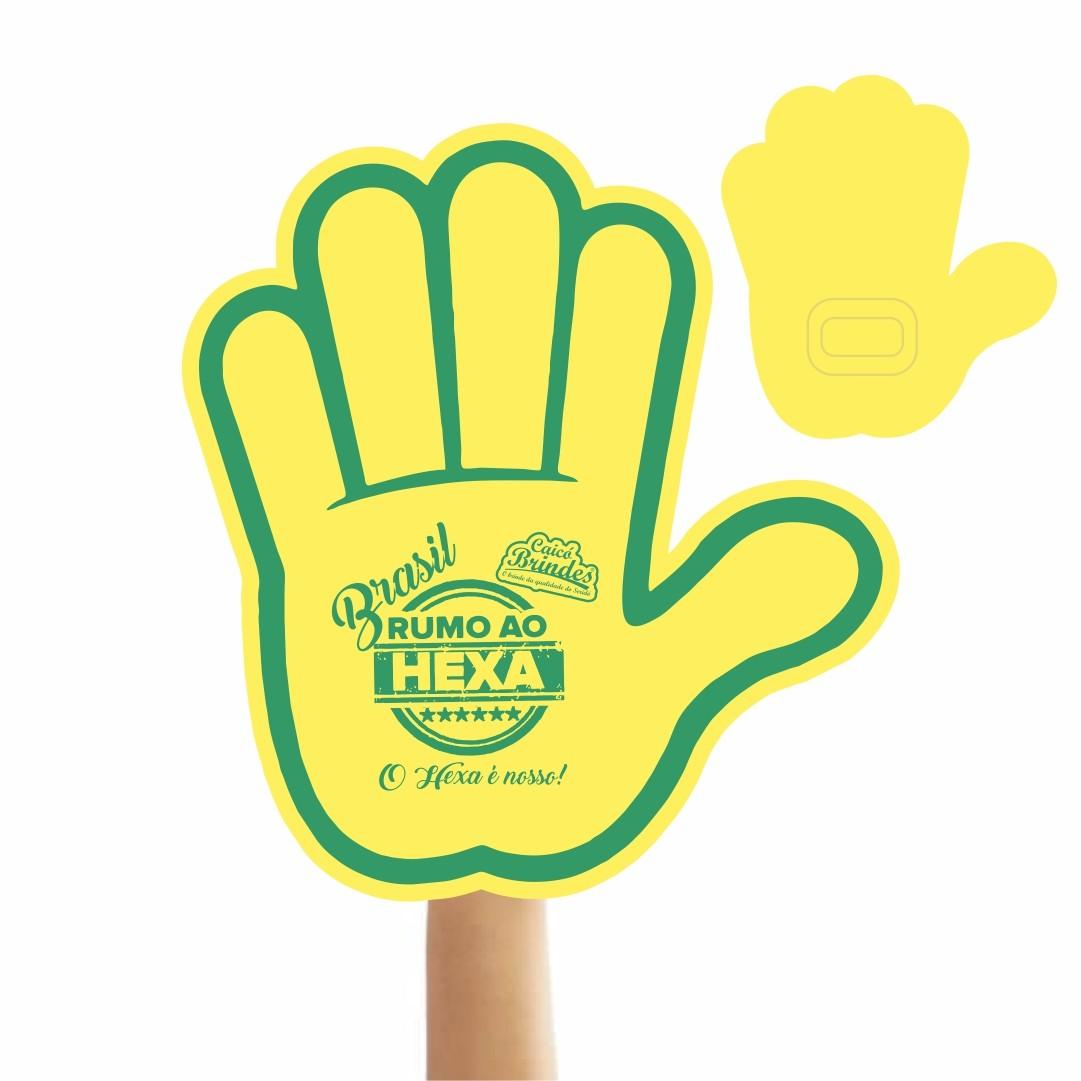 Mão de Torcida Personalizadas - Mão aberta impressão 1 lado