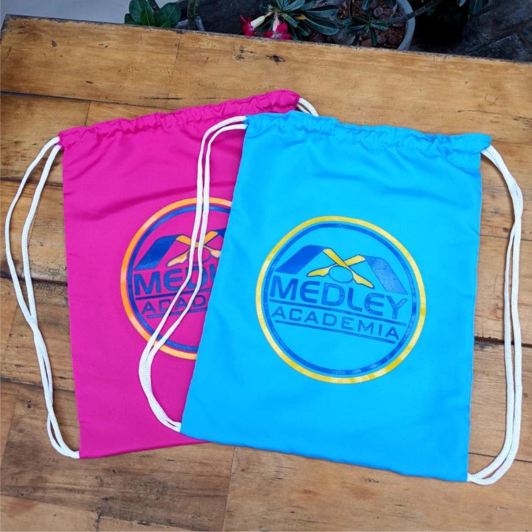 Mochilas Bi Lateral Tecido Tactel 30x40cm Personalizada