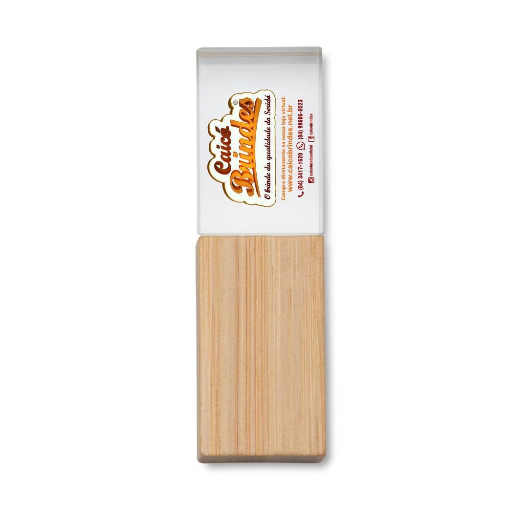 Pen Drive Cristal Bambu Personalizado