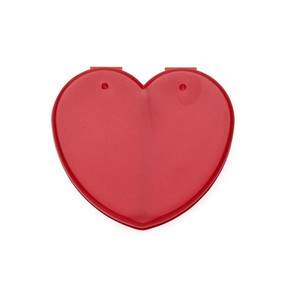 Porta Comprimido Plástico Coração