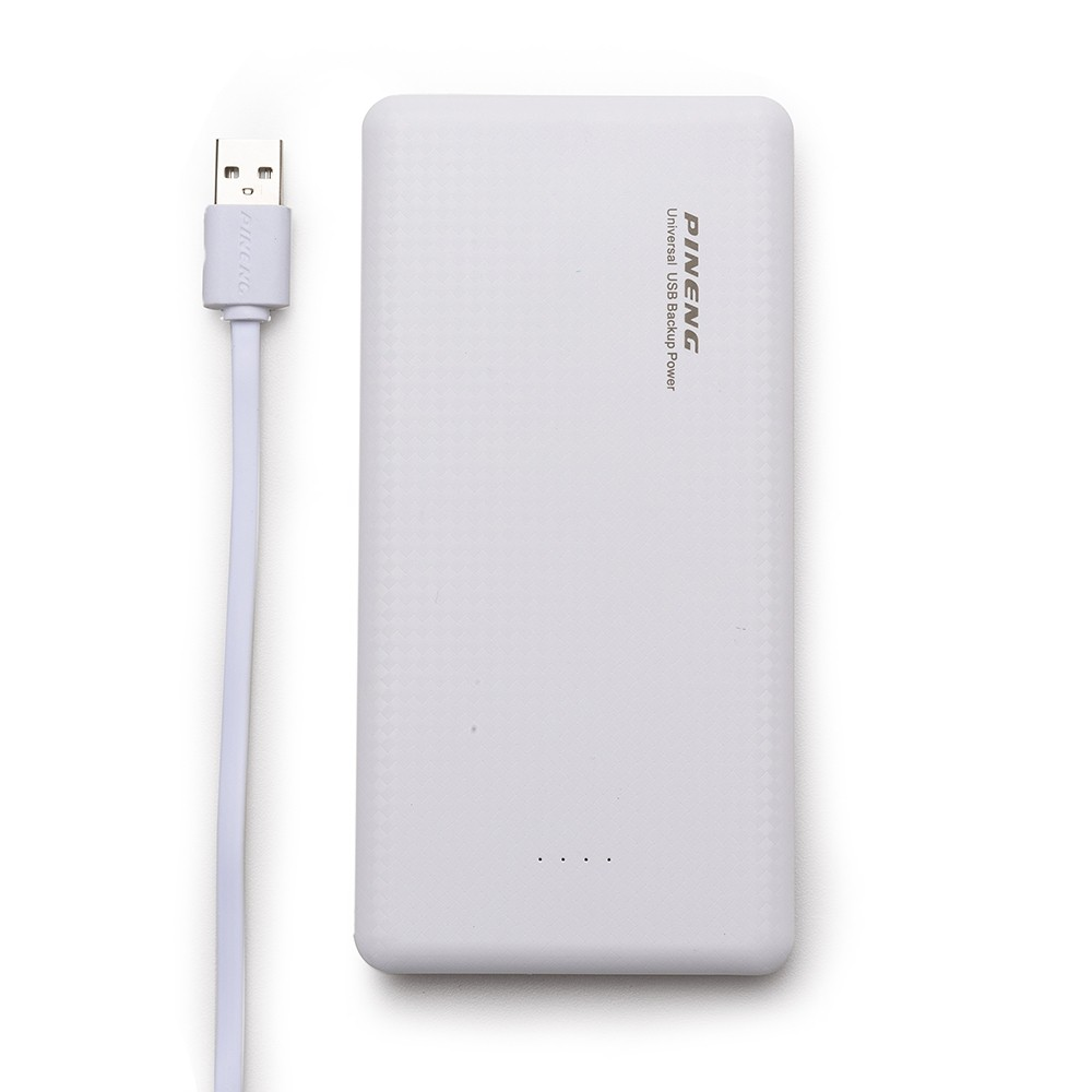 Power Bank Plástico Tipo Pineng com Indicador Led