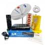 Antena Parabólica Century 1,70 com Receptor Midiabox B4