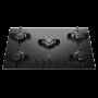 Cooktop Electrolux a Gás 5 Bocas Tripla chama de 3,2KW Acendimento Superautomatico Preto KE5GP