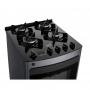 Fogão Consul 4 Bocas Acendimento Automático com Mesa de Vidro e Timer touch Bivolt Titanium CFO4VAT