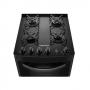 Fogão Continental 4 Bocas Acendimento Automático  com Mesa de Vidro Forno 57 Litros Bivolt Preto FC4VP
