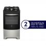 Fogão Electrolux 4 Bocas Acendimento Automático com Mesa de Vidro e Porta Full Glass Inox Preto 52LSV