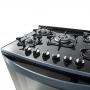 Fogão Mueller Mesa de Vidro 5 Bocas Decorato Vetro Acendimento Automático Bivolt Preto Fosco