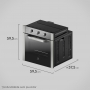 Forno de Embutir Elétrico Electrolux 73L Inox com Grill OE8MX