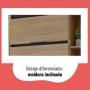 Paneleiro Telasul Hibisco 700mm 2 Portas Aveiro/Grafite