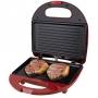 Sanduicheira Britânia Grill Crome Inox/Vermelho 127V
