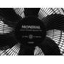 Ventilador de Mesa Mondial Maxi Power 40cm 3 Velocidades 6 Pás 127v Preto NV-75