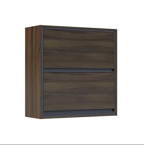 Armário de Cozinha Telasul Canela 2 Portas 80cm Cor Nogueira 902002