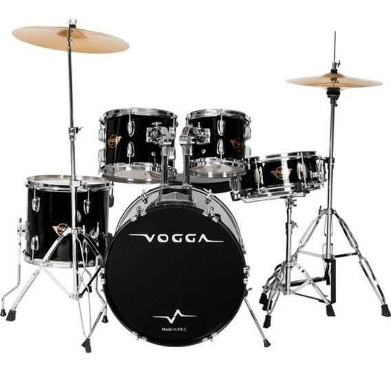 Bateria Acústica Vogga Talent VPD920 Preta