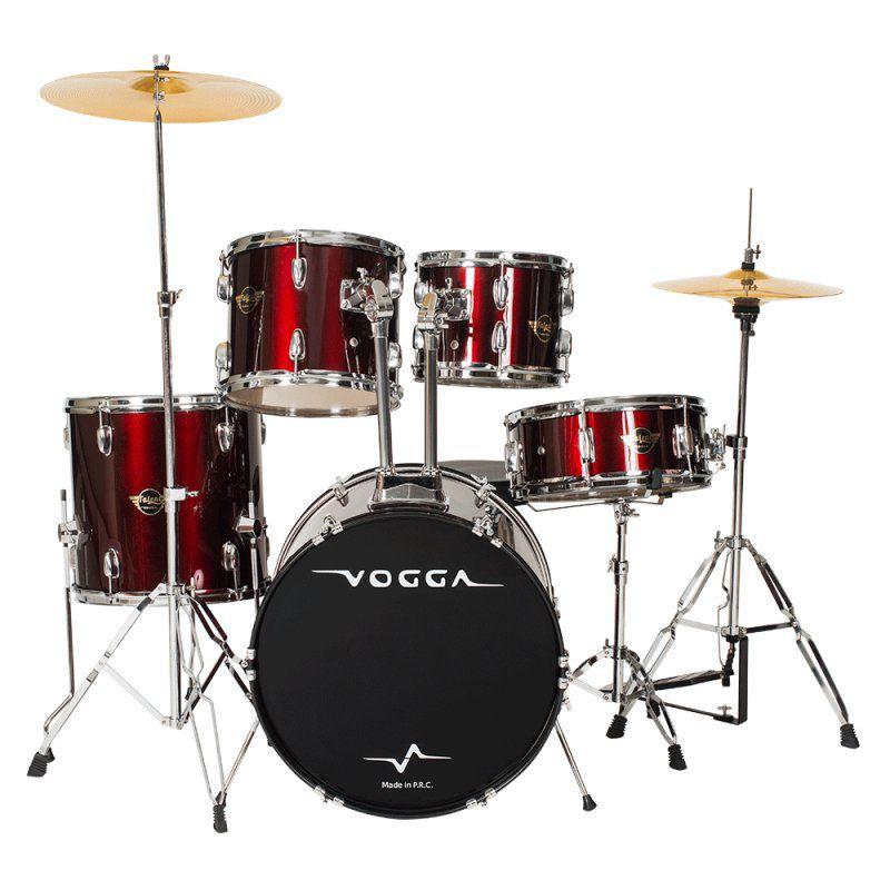 Bateria Acústica Vogga Talent VPD920 Vinho