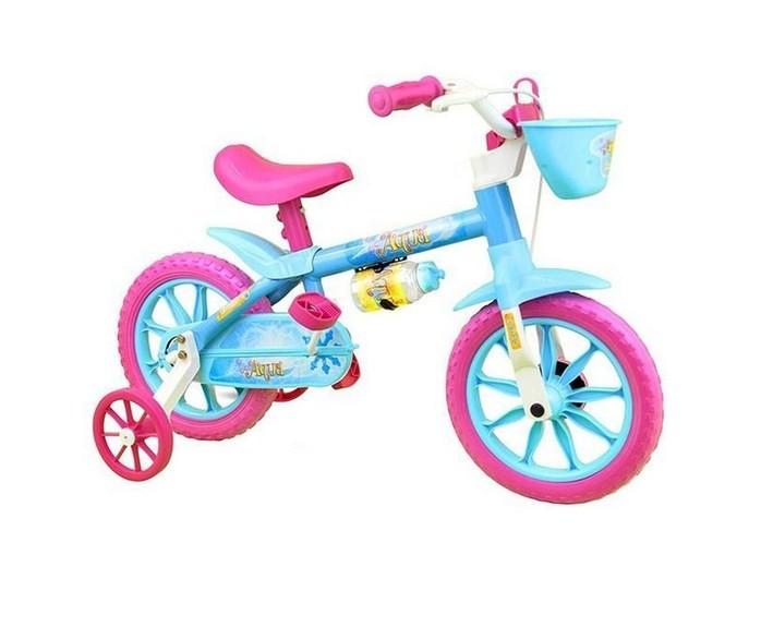 Bicicleta Cairu Aqua A-12 Azul/Rosa