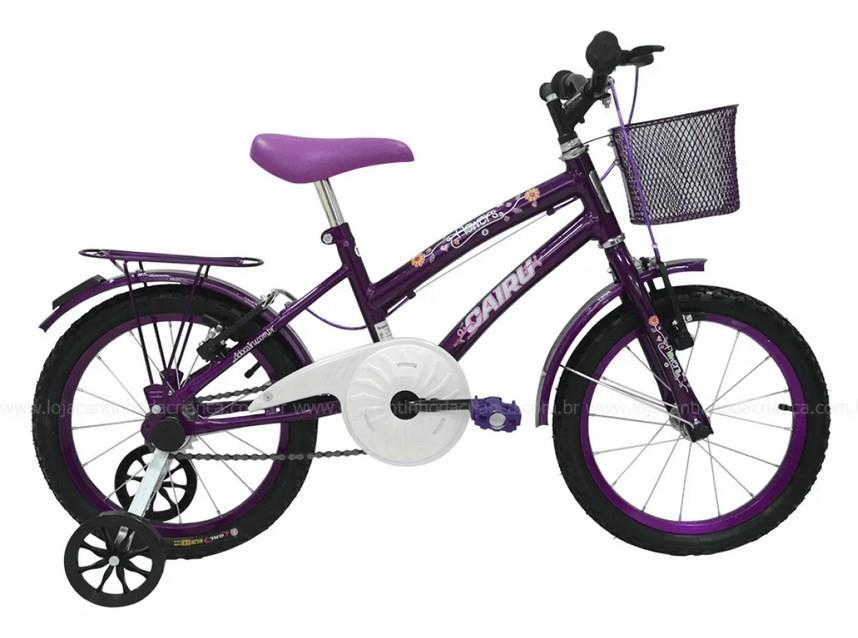 Bicicleta Cairu Aro 16 Flowers Lilas
