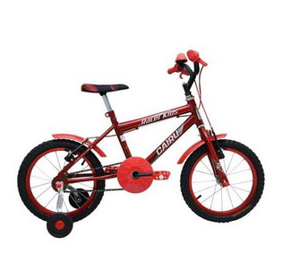 Bicicleta Cairu Aro 16 Racer Kids Vermelha