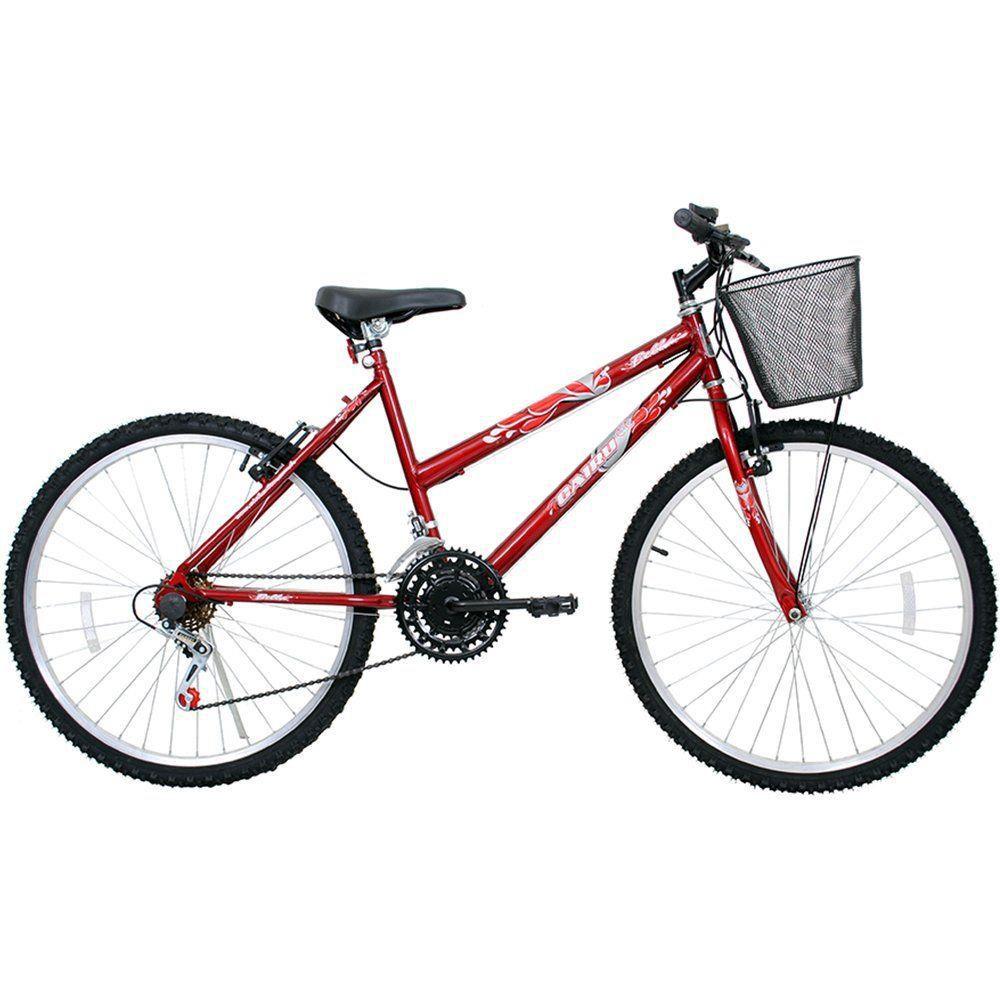 Bicicleta Cairu Aro 26 Bella c/ cesta Cor vermelha