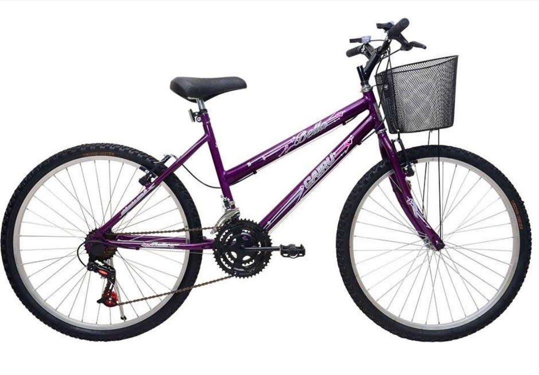 Bicicleta Cairú Aro 26 Bella C/cesta Lilás