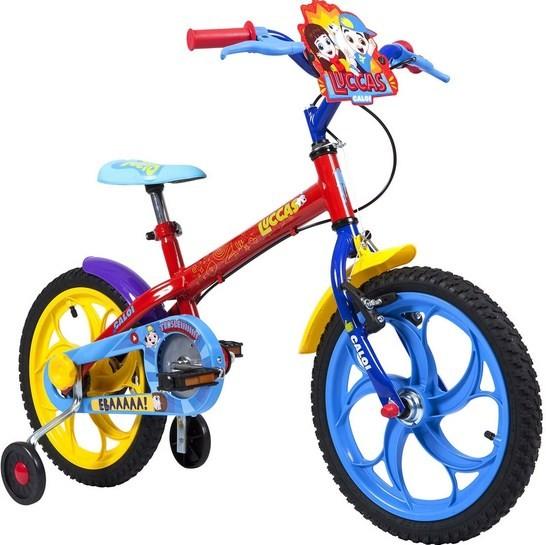Bicicleta Caloi A-16 Lucas Neto Vermelha