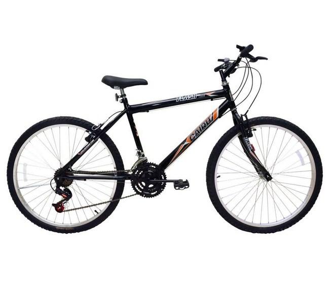 Bicicleta de Passeio Cairu Aro 24 Flash Bike Preta