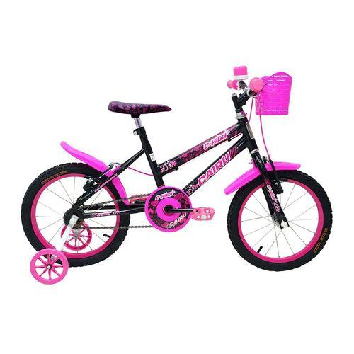 Bicleta CAIRU Aro 16 Feminina C-HIGH Rosa/Preto