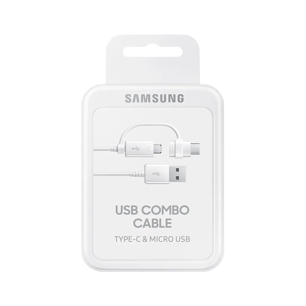Cabo Usb Carregador Type B + Type C Original Samsung