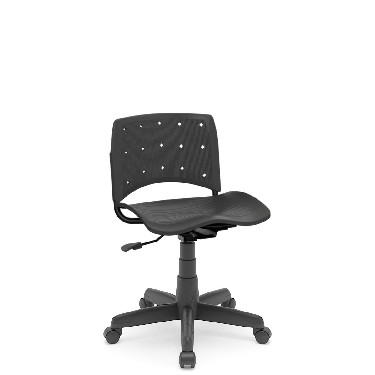 Cadeira Giratória Plaxmetal Ergoplax Secretária Preto