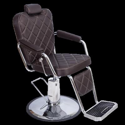 Cadeira para Barbeiro Texas Wood Dompel Tabaco