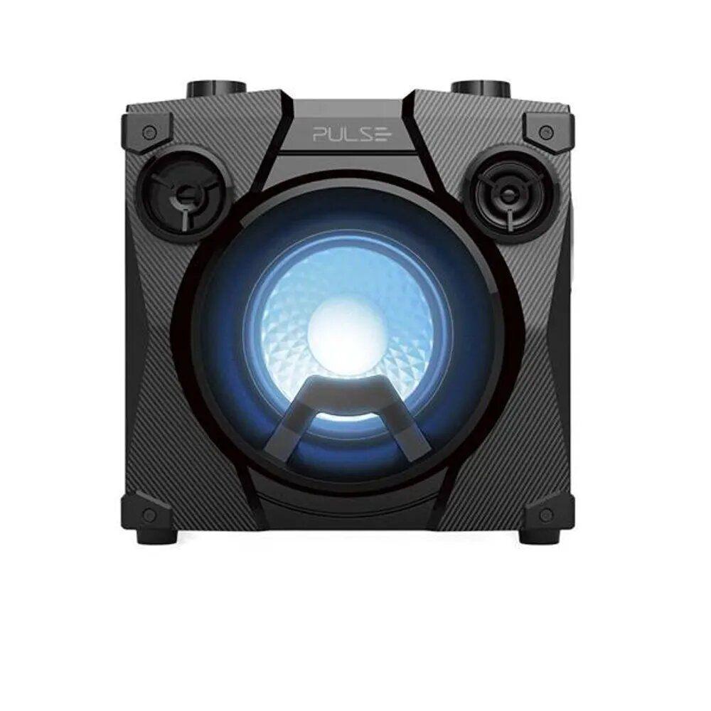 Caixa De Som Party Speak Cube Tws, Bt, Usb, Fm, Aux, Microfone Preto Multilaser - SP320