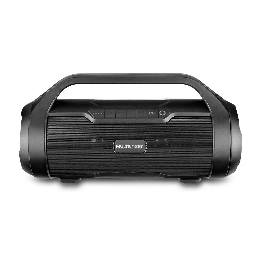 Caixa de Som Portátil Multilaser Super Bazooka, LED, Bluetooth, 180W RMS - SP339