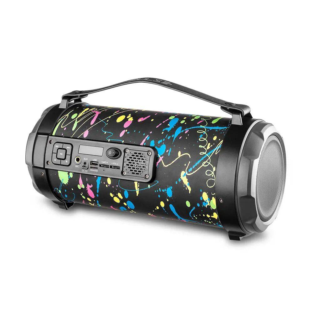 Caixa de Som Pulse Bazooka Paint Blast II 120W Multilaser - SP362