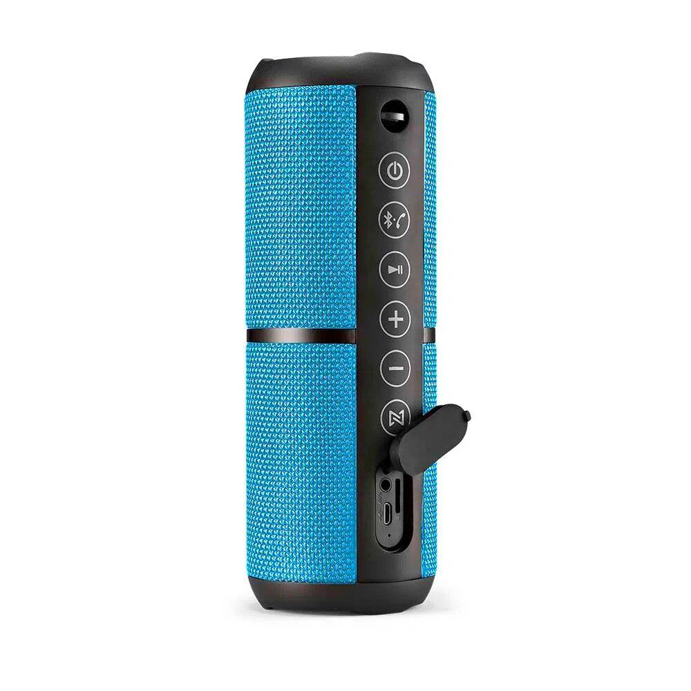 Caixa de Som Pulse Bluetooth Speaker Wave II Azul Multilaser- SP375