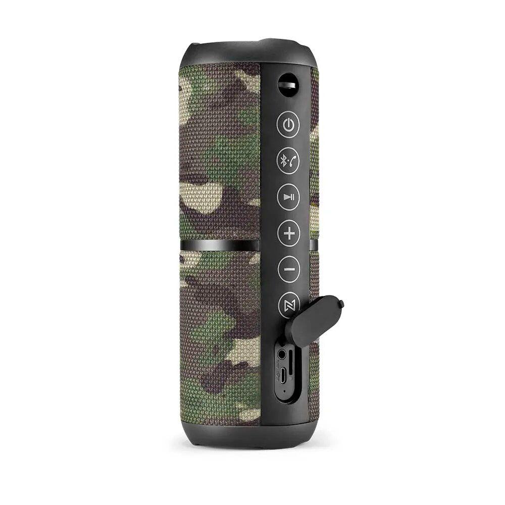 Caixa de Som Pulse Bluetooth Speaker Wave II Camuflada Multilaser- SP374