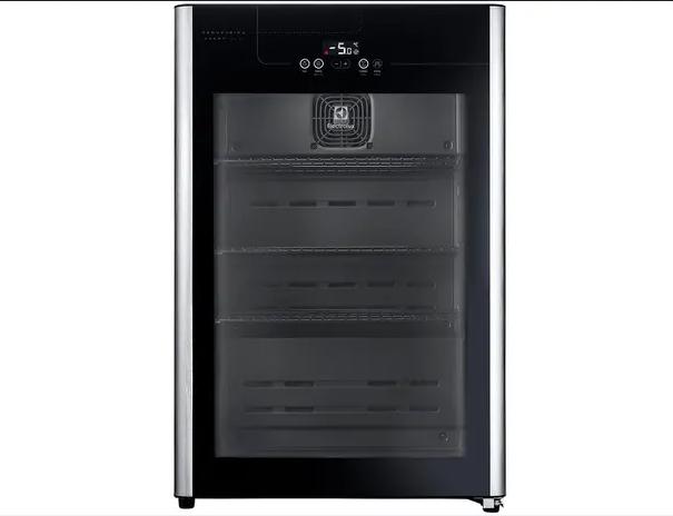 Refrigerador Electrolux Cervejeira com Porta de Vidro 100 Litros  Beer1 127v Preto Inox