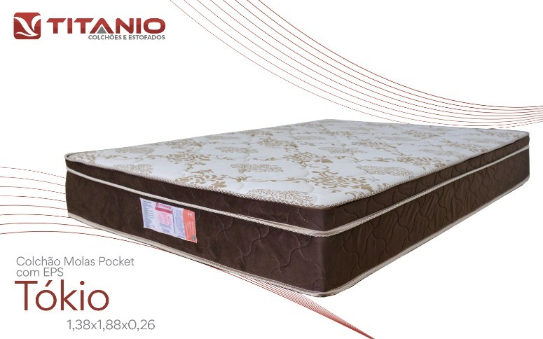 Colchão Titanio Tokio EPS Molas 138x188/26