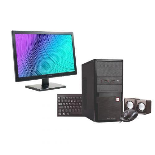 Computador Multilaser Intel Celeron 4GB 500GB HD Monitor 18,5 Pol. Linux + Acessórios Preto