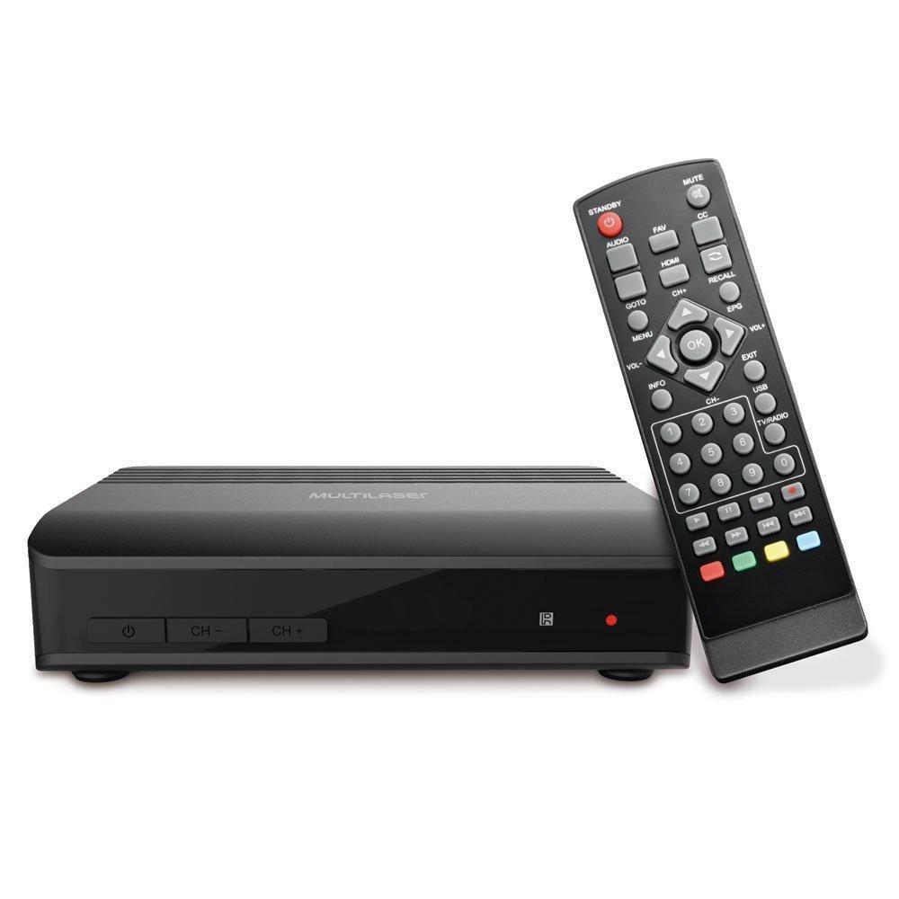 Conversor e Gravador de TV Digital Multilaser RE219 Conexão HDMI e USB