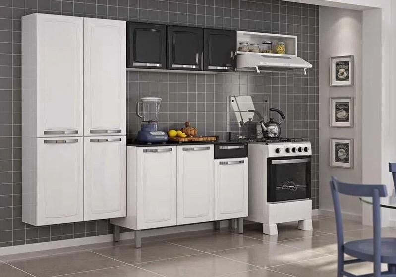 Cozinha c/ Balcão Itatiaia IG3G1-105 Rose Pt/Bc