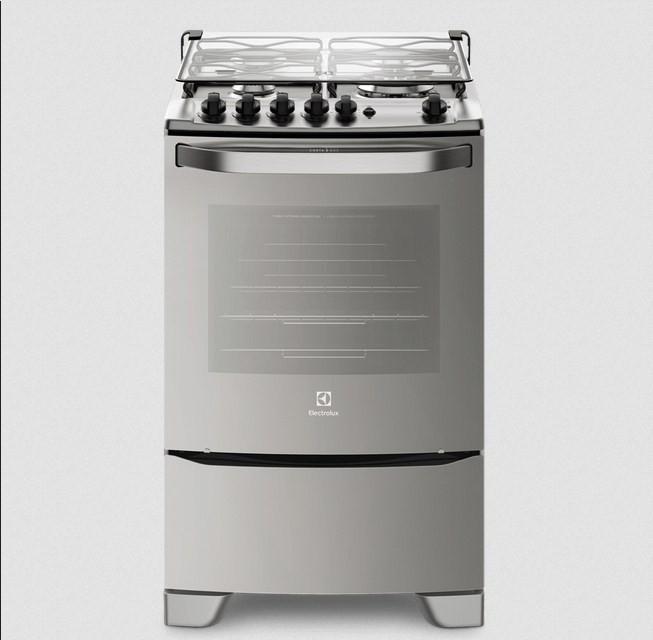Fogão Electrolux 56GXQ 4Q 1C Grill Silver