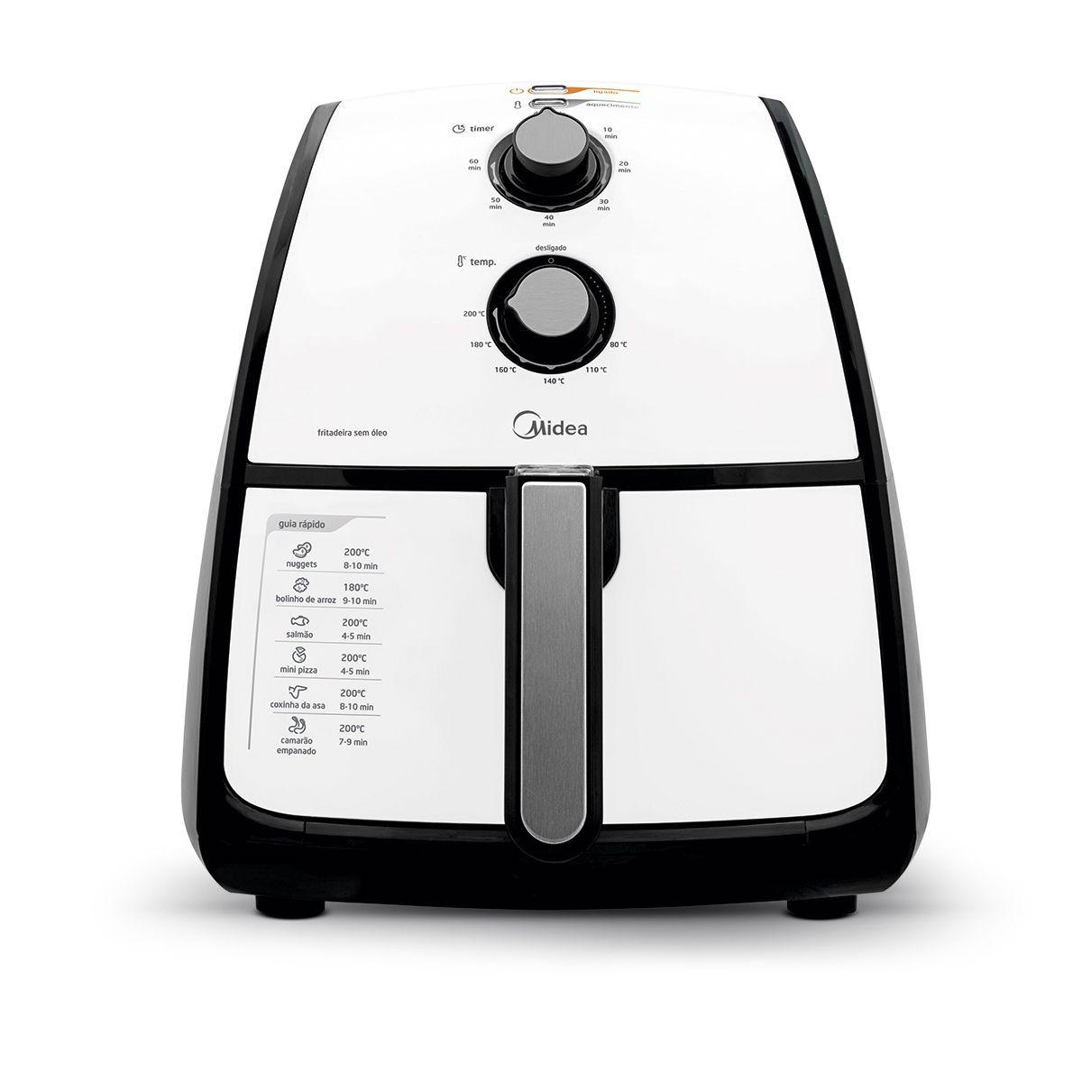 Fritadeira Air Fryer Midea Liva 4 Litros  Branco 127V FRA41