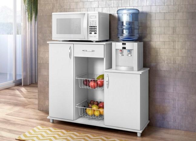 Balcão Fruteira de Cozinha Notável Móveis Diva 55090 Branco