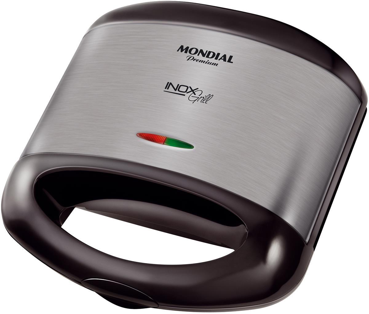 Grill e Sanduicheira Mondial Premium S-07 Inox 127v