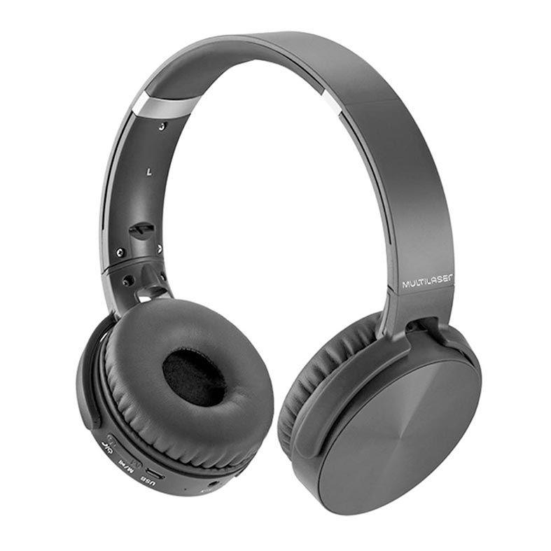 Headphone Premium Bluetooth Sd/Aux/Fm Preto Multilaser - PH264