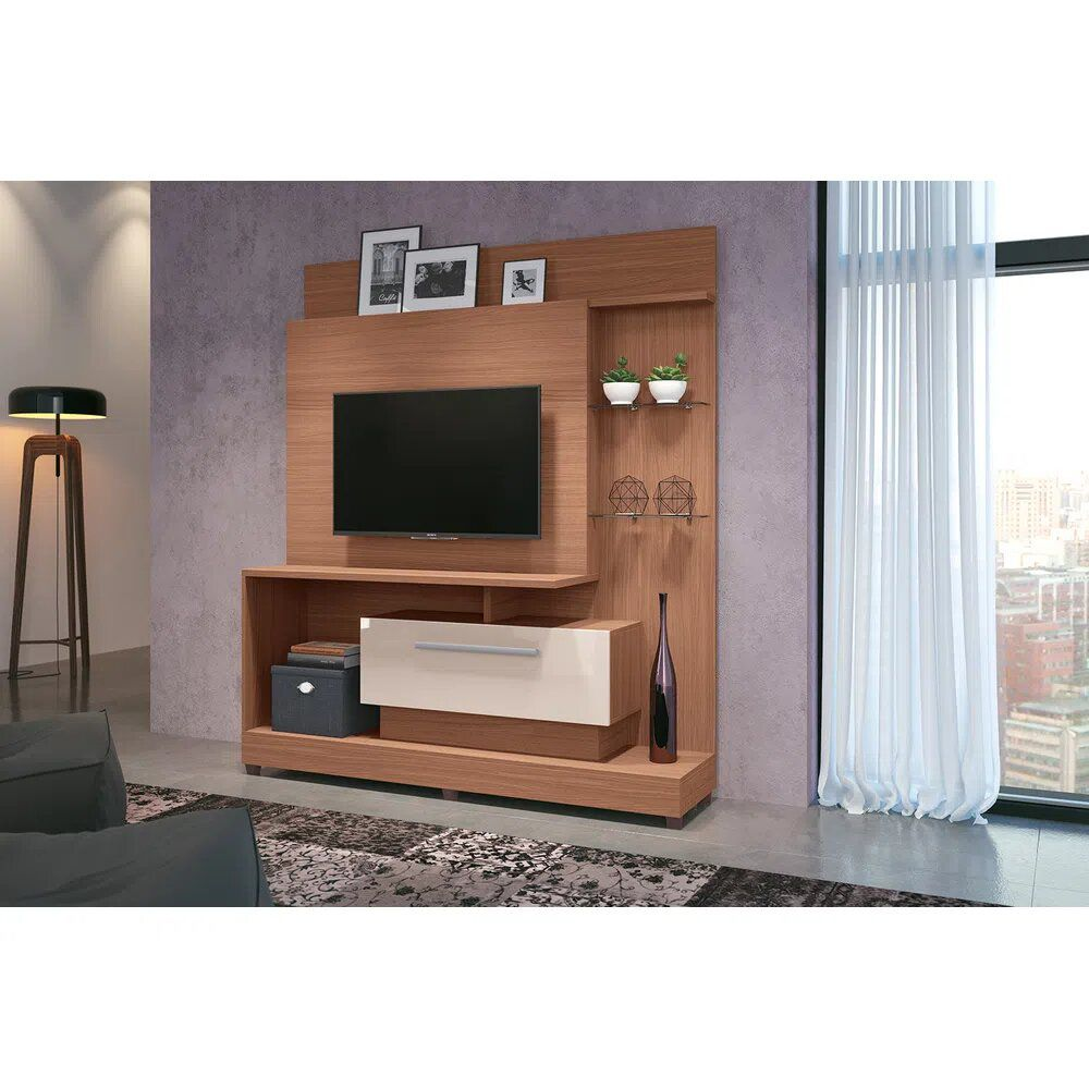 Home Theater Colt  Nature/Off white - HB Móveis