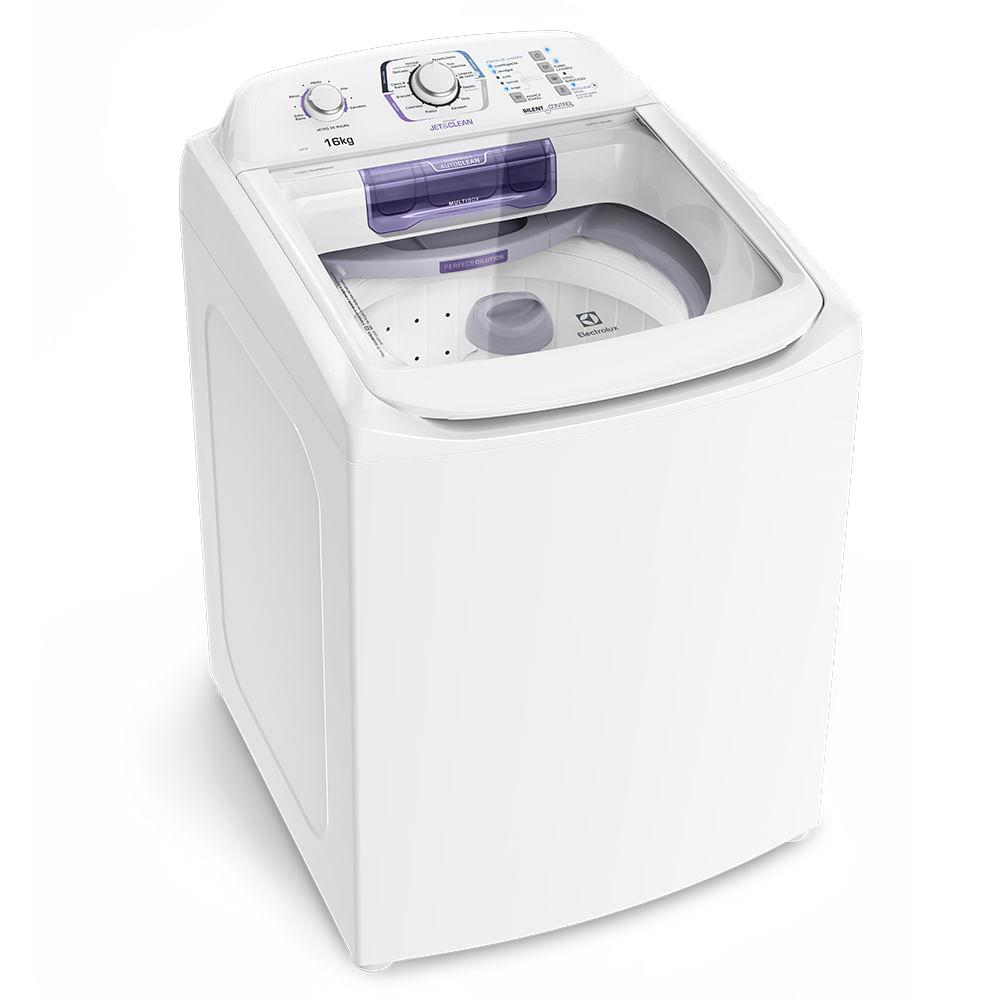 Máquina de Lavar Electrolux 16Kg Turbo Economia, Silenciosa com Jet&Clean e Filtro Fiapos 127v Branca LAC16