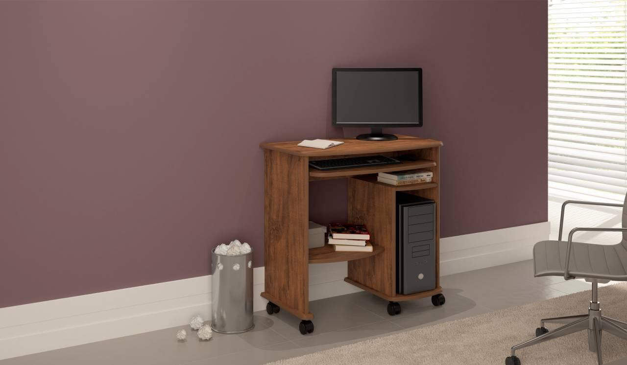 Mesa para Computador com Rodízios C211 Dalla Costa Nobre