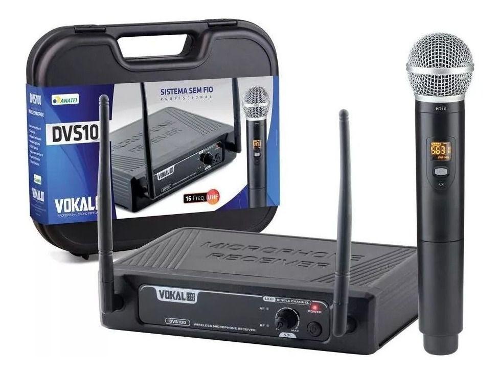 Microfone Sem fio Vokal UHF Mão DVS100SM