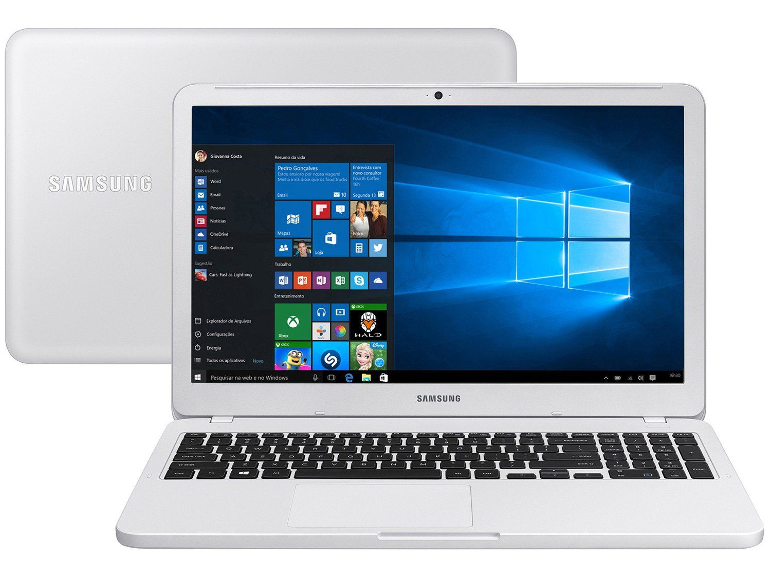 Notebook Samsung NP350 I3/4GB/1TB/W10 Branco 15