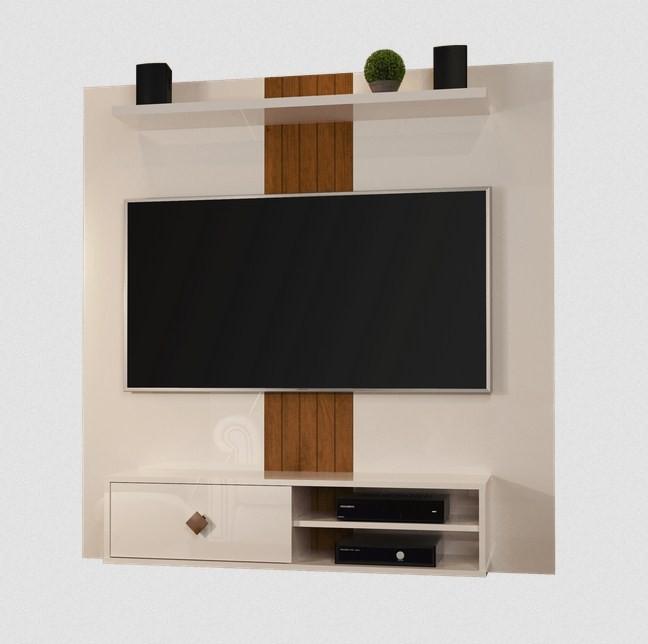 Painel para TV JB Bechara 5024 Luxo Pérola Caramelo